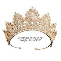 Hair Clips & Barrettes Luxury Baroque Bride Big Crown Tiara Jewelry Band Wedding Dress Accessories Bridal Headdress E56A