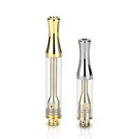 Envio rápido AC1003 Atomizers Gold / Siliver Dica 1.0ml Cartucho de Tanque de Vidro 510 Tópico Bobina De Cerâmica Vaia Vape Carrinhos Para Vagem de Óleo Grosso