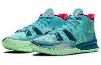 Kids Kyries Special FX الرجال النساء أحذية مع مربع إفرازات 7 الأخضر الوردي الأرجواني مدرب أحذية رياضية الحجم 4-12