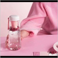 Bottles Drinkware Kitchen, Dining Bar Home & Garden550Ml Creative Cute Cat Claws With Tea Filter Plastic Cup Kawaii Cherry Blossoms Portable