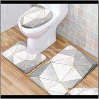 Mats Aessories Home & Gardennordic 3Pcs Flannel Anti Slip Toilet Shower Room Decor Rug Carpet Bathroom Bath Mat Set Geometric Drop Delivery