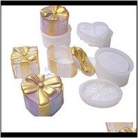 DIY Epoxy Resina Moldes Siile Moldes Cristal Glue Redondo Ellipse Elipse En forma de Corazón Arco Cuadrado Box Molde 14ly M2 SIOSH YSZKG
