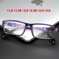 Ultraleichte Lesebrille Presbyopic Gafas de Lectura Oculos Full Frame +1.0 bis +4.0 Tragbares Geschenk für Eltern Sonnenbrillen
