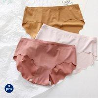Women's Panties Side Slips Lady Mid Taille Breathing Women Slippers Sexy Underwear Effects Ultra Dunne Needless Underpants Lingerie Female
