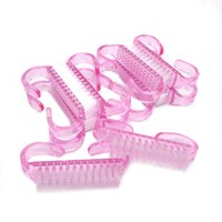 Acrylic Nail Brush 4 Colors Nail Art Manicure Pedicure Soft Remove Dust Plastic Cleaning Nail Brushes File Tools Set