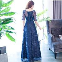 Ladybeauty Real Photos Vintage robe de soirée blanche Vintage robe de bal v-cou A-line robe de fête de soirée