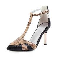 봄 중공 얇은 샌들 하이힐 얕은 입으로 찍은 펌프 신발 여성 여성 섹시 하이힐 큰 크기 32-48