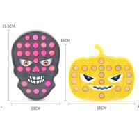 Party Gunst Halloween Theme Push Bubble Kürbis Schädel Zappeln Spielzeug Anti Stress Squishy Board Dekompression Spielzeug DWD8964