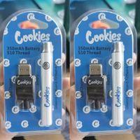 Biscuits Préchauffez la batterie de Vape 350mAh Préchauffage VV Valtion Variable Tension USB Stylo de chargeur USB pour 510 Chariots à fil d'épaisseur CARTRODERS JAUVAIRE EPIABLES AVEC BLISTER Paquet