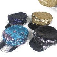 70٪ خصم 2021 ربيع جديد القبعات أزياء شبكة الترتر قبعة المرأة الكورية المرحلة الأداء شقة أعلى قبعة البحرية