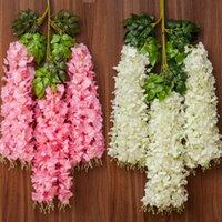 Decorative Flowers & Wreaths 12pcs Wisteria Artificial Vine Ivy Plant Fake Tree Garland Hanging Flower For Wedding Decor Home Decorations Ou