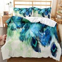 Bedding Sets Pretty Colorflu Feather Set Duvet Cover Comforter Bohemian Bedclothes (NO Sheet) AYR Home Texile