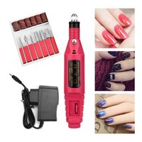 Nail Drill & Accessories ATOMUS Electric Manicure Machine Bits Milling Adjustable Speed 20000 RPM Gentle Polishing Art Pen Professional Kits