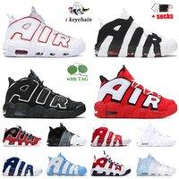 Nike Air More Uptempo Scottie Pippen Scarpe da basket da donna di alta qualità da uomo Nero Varsity Red Camo Bulls Hoops Pack Triple White University Blue UNC Jumpman