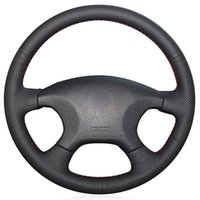 Black PU Faux Leather DIY Hand-stitched Car Steering Wheel Cover For Elysee C-elysee Xsara Picasso Covers