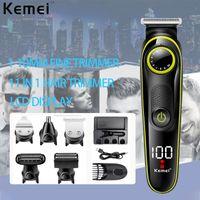 Kemei Barber Checkper Checkper Professional 11 в 1 Триммер для волос для мужчин Beard Electric Electric Clipper для стрижки стрижки машины