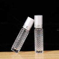 New10ml Garrafas de rolos de óleo essenciais Rolo de vidro vazio em essenciais Óleos Perfume Essência Recipiente de Viagem Amostra Esvazia Bottle Lla7343