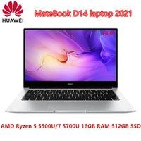Dizüstü Bilgisayarlar Kaliteli Laptop Huawei Matebook D 14 2021 inç FHD Ekran AMD RYZEN 7 5700U 8 Core 16 Konu Yukarı 4.3 Ghz Mat Ekran