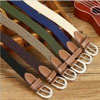 2021 The Designer Fashion Belts Meihuida Unisex Mujeres Hombres Casual Elástico Stretch Lienzo trenzado Tejido de cuero Cintura Cintura Cinturón Jeans para Mujeres