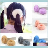 Baby, Kids & Maternity2Pcs Fluffy Rope Band Faux Fur Hair Ring Furry Scrunchie Girls Soft Elastic Cute Jewelry Aessories Drop Delivery 2021