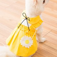 Miflame Sweet Puppy For Small Pomeranian Bichon Summer Dog Flower Fancy Dress Cute Pet Clothes