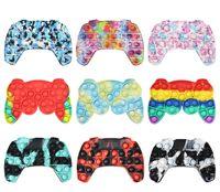 Fidget Brinquedos Tie-Tye Imprimindo Pad GamesPads Push Push Bubble Controller Fidgets Joystick Dedo Decompression Ansiedade Toy Surpresa Atacado