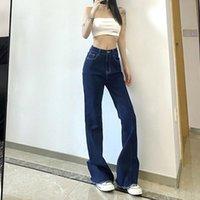 Women's Jeans Y2k Tassel Flared Pants Streetwear Kpop Egirl High Waist Blue Fashion Basic Straight Korean Rock More Denim Long Trousers