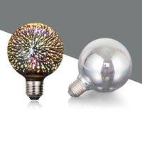 3D Star Led Bulbs ST64 E27 Voltage:110-230V AC Retro Filament   4w Edison Bulb Light Holiday Decoration Bar Glass Lamp crestech