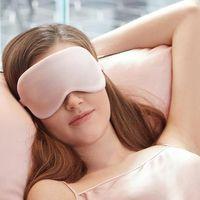 Masque de sommeil de soie 100% 3D Masque d'oeil de couchage naturel Couvercle de la couvre-ombre de l'ombre Patch oeil Soft Portable Vavir Voyage 30 couleurs