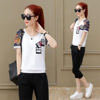 Women's Tracksuits Outfit Tracksuit Sportswear Co-ord Set For Women 2 Piece Short Top And Pants 2021 Plus Size Large Summer Clothing