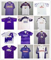 98 99 92 93 00 Retro Fiorentina Futbol Formaları 9 Batistuta 10 Rui Kosta Özel Vintage 98 99 Floransa Futbol Gömlek Calcio Futebal Şort