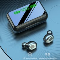 Беспроводная Bluetooth-гарнитура V5.1 R11 R15 TWS Спортивные наушники 2000mah Светодиодный дисплей Сенсорное управление Power Bank с MIC