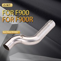 Motorcycle Exhaust System 51mm Middle Link Connect Pipe Slip Muffler Tube On For F900R F900XR 2021-2021