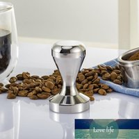 Solidna stal nierdzewna 49mm 51mm 58mm Tamper Hamper Hammer W proszku Espresso Coffee Bean Mill Accessories