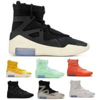 Fear 1 Basketball Chaussures Haut Hommes Design Entraîneurs à voile Flocons d'avoine Triple Noir Triple Black Spiruce de Lumière Orange Pulse Atmosphère Atmosphère