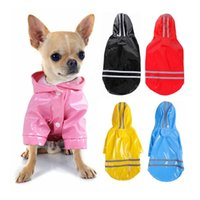 Dog Apparel Pet Rain Gear Pu Reflective Lovely Raincoat With Fashion Designer Suitable For Labrador Samoyed Pug Cats And Dogs Universal