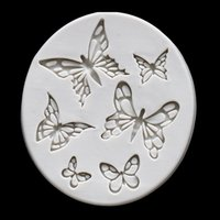 Various butterfly flying decorative patterns silicone mold baking cake biscuit texture printing pad crystal glue dropping