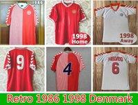 1986 1998 National Team Retro Mens Soccer Jerseys Dinamarca M.laudrup Helveg Jørgensen B.Laudrup Hogar de la camisa de fútbol de la manga corta.