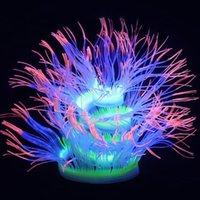 수족관 장식 물고기 탱크 조경 실리콘 산호 시뮬레이션 Actinian 형광등 장식 비 독성 금고