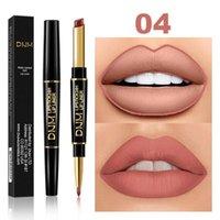 Lápices de labios 2 en 1 forro impermeable impermeable lápiz labial lápiz contorno tinte sexy rojo largo duración humectante lipliner cosmetics tslm1