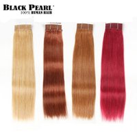 인간의 머리카락 Bulks Black Pearl Remy Brazilian Silky 스트레이트 번들 P4 / 27 색 113G Balayage Ball Blonde Red Extensions