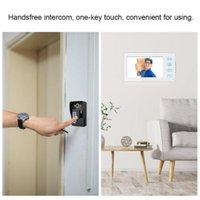Andere Tür Hardware RFID-Telefon 7in verdrahtete Video-Intercom-Türklingel 1 Kamera 2 LCD-Monitor mit Fingerabdruck-Passwort Bell wasserdicht