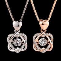 Collane pendente Gioielo Smart Heart Collana Smart Heart Femmina 925 Placcato argento Placcato Gold Gold Chain Jewelry