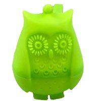 Silicona búho herramientas de té colador bolsas lindas de grado alimenticio creativo de hoja suelta infusor filtro difusor de accesorios divertidos Zza6099
