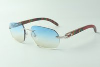 Direct sales designer sunglasses 3524024, peacock wooden temples glasses, size: 18-135 mm