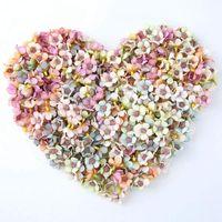 Decorative Flowers & Wreaths 50pcs Multicolor Daisy Flower Head Mini Silk Artificial For Wedding Engagement Party Home Decor DIY Garland Hea