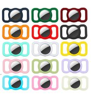 Strap Band Case for Airtag Dog Collar Silicone Covers Anti-lost Cases Protective Pets GPS Tracking Locator DWD8817