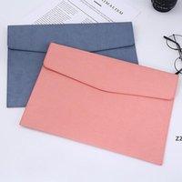 Newsolid اللون a4 ملف جيب دائم دفاتر مجلدات المستندات حقيبة المحمولة الإيداع أكياس تخزين الأرشيفية مقالات مكتب المدرسة HWF8603