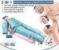 المحمولة 3 في 1 بعيدة الأشعة تحت الحمراء كامل الجسم مدلك ضغط الهواء العلاج البدني آلة تصريف اللمفاوية للجسم التخسيس