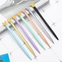 Ballpoint Pens Ellen Brook 1 PCS Pen Love Cartoon Bear Cat Wedding Metal Copper Office School Supplies Stationery